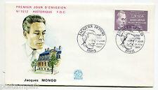 FRANCE 1987, FDC 1° JOUR, CELEBRITE, JACQUES MONOD, timbre 2459