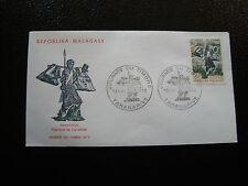 MADAGASCAR - enveloppe 13/5/73 - journee du timbre - yt n° 522 - (cy4) (Z)