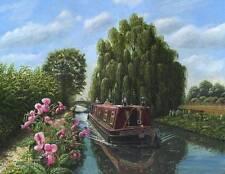 SUPERBA ORIGINALE Richard harpum M.A (camb) Mary Jane Canal chiatta BARCA pittura