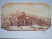 """Barrels, Billiards, and Beer""- Roy Purcell Etching  Signed / Numbered 33/100"