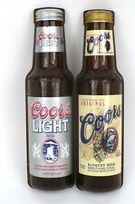 Lot of Two 1990s Coors/Coors Light Bottle 10 inch Pole Signs Tavern Trove