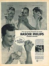 PUBLICITE ADVERTISING 124  1961  PHILIPS  rasoir éléctrique  STANDARD UNIVERSEL