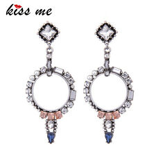 KISS ME Charming Crystal Simulated Pearls Earrings ed00126b