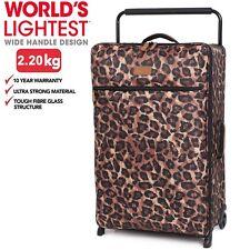 it luggage Large 78.5cm Leopard Print 2 Wheel Worlds Lightest