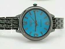 Ecclissi Sleeping Beauty Turquoise Sterling Silver Watch Black