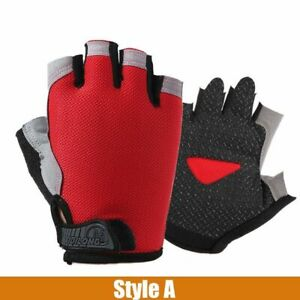 Cycling Gloves Silicone Anti-slip Anti-sweat Men Women Half Finger Breathable