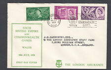 GB 1958 Empire and Commonwealth Games FDC - With Barry games CDS - Cat £300