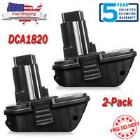 2X DCA1820 20V MAX Lithium Ion Battery Adapter Converter For DEWALT 18V Tools