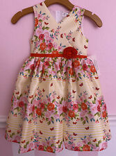 NWT Nannette Girl Yellow, Pink, Red, Floral Flower Rose Dress Sz 6