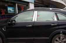 8pcs Chrome Central Window Pillar Posts Trim For Chevrolet Captiva 2012-2015