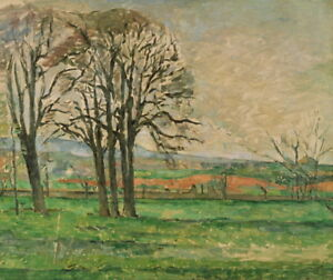 Paul Cezanne The Bare Trees at Jas de Bouffan Giclee Paper Print Poster