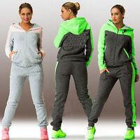 Damen Trainingsanzug Jogginganzug Kapuze Tops Jacke Jogginghose Sportanzug Set