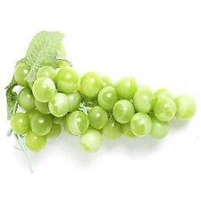Bunch of Artificial Green Grapes - Plastic Decorative Fruit