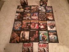 Lot of 22 WWE DVDs Wrestling WWF WCW ECW Cena Foley Flair Michaels Lesnar Lawler