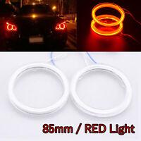 85mm LED Red COB Angel Eye Halo Car Light Ring Headlight DRL Lamp Super Bright