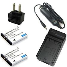 Charger + 2x 3.6v 1200mAh Battery for NP-50 A Fujifilm FinePix REAL 3D W3 Camera