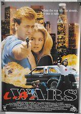 (A46) Gerollt/Filmplakat L.A. WARS 1994 Thomas Brader, Kerri Kasem, Vince Murdoc