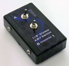 """1/8"""" Stereo A/B/Y Switch Splitter Adapter Headphone Toggle In Out A, B, or Both"""