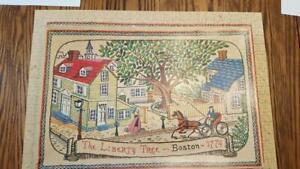Vintage Milton Bradley Early American Jigsaw Puzzle Boston Liberty Tree 500+