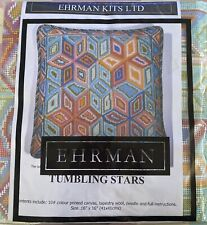 Ehrman Tumbling Stars Tapestry Kit COMPLETE NOS  in packaging Throw Pillow BOHO