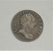 More details for uk, king george 111, 1762 threepence, very fine,.17.7 mm diameter.{g803}