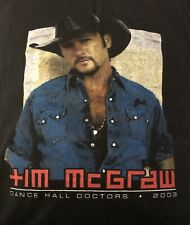 vintage tim mcgraw 2003 shirt Xl, Pre-owned