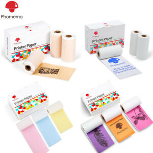 Adhesive Thermal Sticker Paper for Phomemo M02 Series Bluetooth Pocket Printer