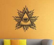 Illuminati Sign Wall Decal All Seeing Eye Vinyl Sticker Wall Mural Home Decor 15