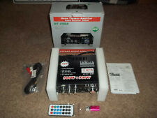 New listing New Box Bt-298A Home Theatre Steroe Audio Receiver Sound Amplifier & Remote 600W