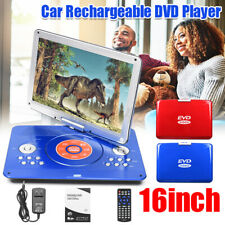 16'' Portable DVD Player HD CD TV Player 16:9 LCD Screen Card Reader Player  D