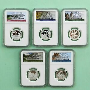 2019-S  Silver 25C Set, NGC PF 70 Ultra Cameo, 5-coin set, Park Label