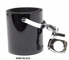 SHINY-BLK Motorcycle Cup Holder Fits Most Handle Bars Extra Mount Screw