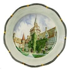 Spencer Edge Vintage Hand Painted Balliol College Oxford Souvenir Plate c1900