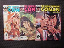 1987 SAVAGE SWORD OF CONAN Magazine #139 141 145 LOT of 3 FN+/VF-