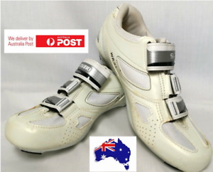 Size 7.8us Shimano WR31 Women's SPD SL Road Shoes -  Off White