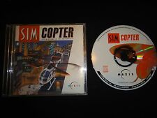 "VINTAGE PC GAME Win 95 Maxis USA SimCopter PC 1998 Rated ""E"" - No Back Cover Art"