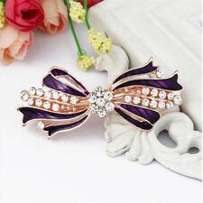 Purple Bride Crystal Hair Clips Hairpins Hair Pin Bobby Pin Barrettes Womens