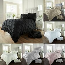 Luxury Alford Diamond Duvet Quilt Cover Sets With Pillow Cases Bedding