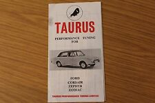 Ford Taurus Performance Tuning For Corsair Zephyr Zodiac Original Sales Folder