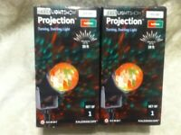 2 Gemmy Red Green LED TURN LIGHT SHOW Project KALEIDOSCOPE Lawn Art CHRISTMAS