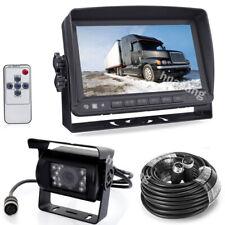 "4Pin 7"" HD Car Monitor IR Rear View Camera Kit for Motorhome RV Truck Reversing"