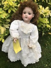 """Armand Marseille doll 390 A.7.M bisque head sleep eyes open mouth 24"""" in length"""