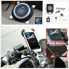 Motorcycle Anti-theft Alarm Security System Remote Control Engine Start 48-72V