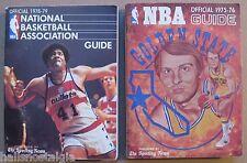 (2) TSN Basketball Guides: 1975-76 Golden State & 1978-79 Washington. Bullets
