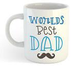 Worlds Mejor Dad 2 Taza - Día De Padres Té Café DIVERTIDO
