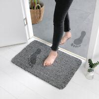 Anti-slip Fleece Absorbent Doormat Pet Paw Clean Mat Pure Door Floor Carpet Rug