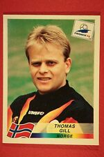 PANINI WC WM FRANCE 98 1998 N. 84 NORGE GILL WITH BLACK BACK MINT!!