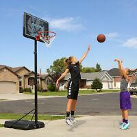 Portable Adjustable Outdoor Basketball Hoop, 44 in. Black Backboard, 7.5 - 10 ft