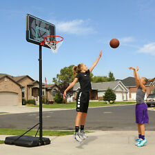 Portable Adjustable Outdoor Basketball Hoop, 44 in. Black Backboard, 7.5 - 10 ft