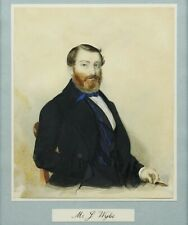 Antique 19th century portrait painting of Mr J Wylie
